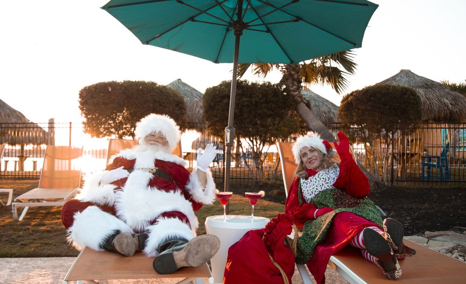 Santa and Mrs. Clause getting a weekend in before their big night!
