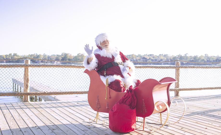 Santa in his Sleigh on Waterpoint Landing
